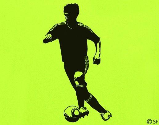 Sport Wandtattoo Fußball verschiedene Größen Rückfallzieher Football