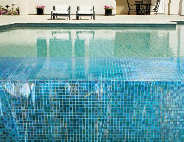Delightful Cool Pleasing Home Design Ideas Pool Design Home Accessories Inspiring  Fetching Glass Blox Tile Swimming Pool Ideas With Easy Over Eye Small Tile  Design ...