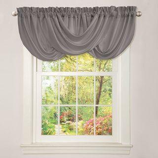 lush decor lucia grey valance create an elegant feel in