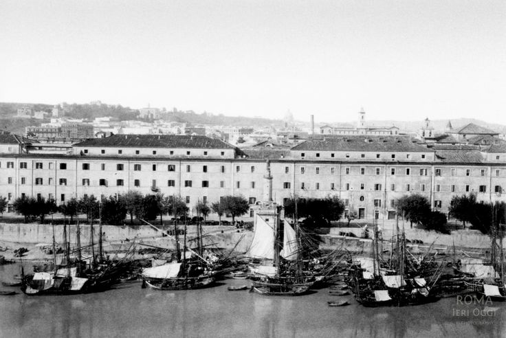 Porto di Ripa Grande (1900 ca) | Roma Ieri Oggi
