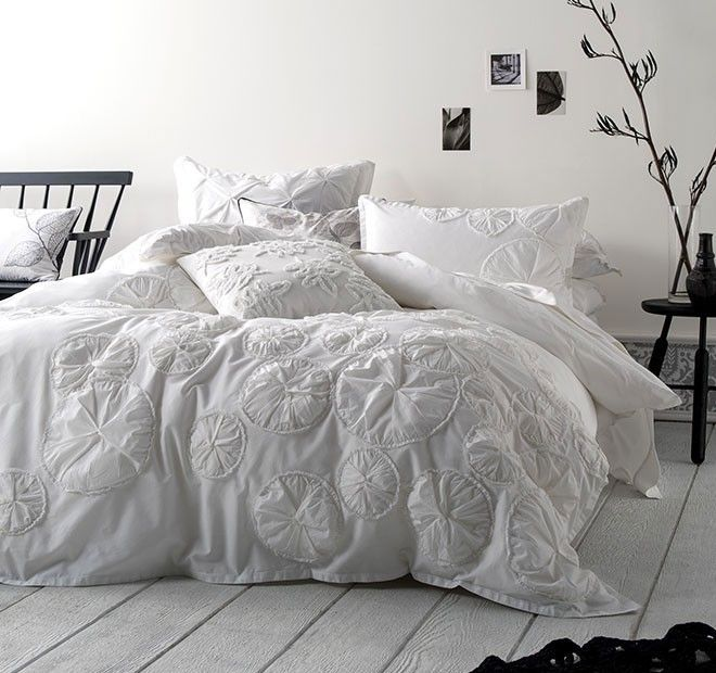 Islet Quilt Cover Set Range White | Manchester Warehouse