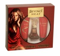 Beyonce Heat Trio Gift Set Beyonce Heat Gift Set for women is a deep and intoxicating scent, opening with top notes of red vanilla, orchid, magnolia, neroli and peach, which then blends with a heart of honeysuckle, almond and musky cream, all of which is rounded off with a base of sequoia wood, Tonka and amber.