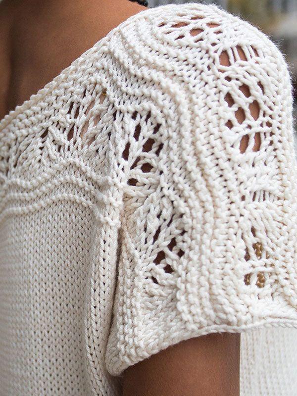 NobleKnits.com - Berroco Modern Cotton Eula Pullover Tee Knitting Pattern 358…