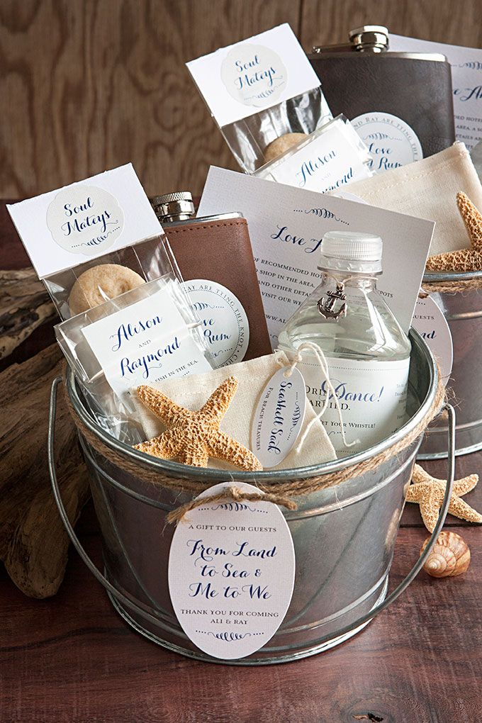 Beach Wedding Gift Basket Ideas : ... Baskets on Pinterest Wedding welcome baskets, Wedding gift bags and