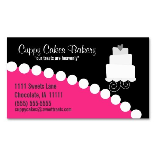 17 Best Images About Sweet Treats Business Cards On