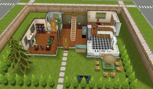 The sims freeplay old townhouse floor 1 sims pinterest for Modele maison sims freeplay