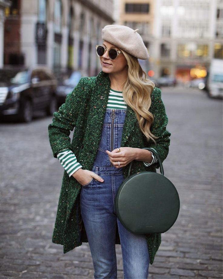 "9,695 Likes, 142 Comments - Blair Eadie / Atlantic-Pacific (@blaireadiebee) on Instagram: ""<overalls, stripes & the perfect shade of green  // new post up on Atlantic-Pacific. Hope everyone…"""