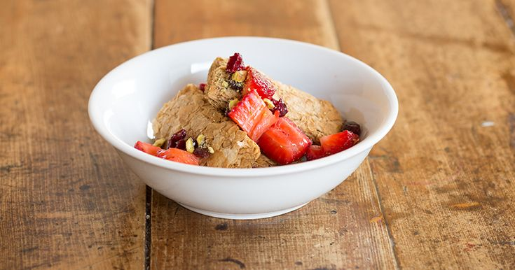 Your breakfast options with Weet-Bix are only limited by your imagination. Try our Strawberry, Cranberries & Pistachio twist.