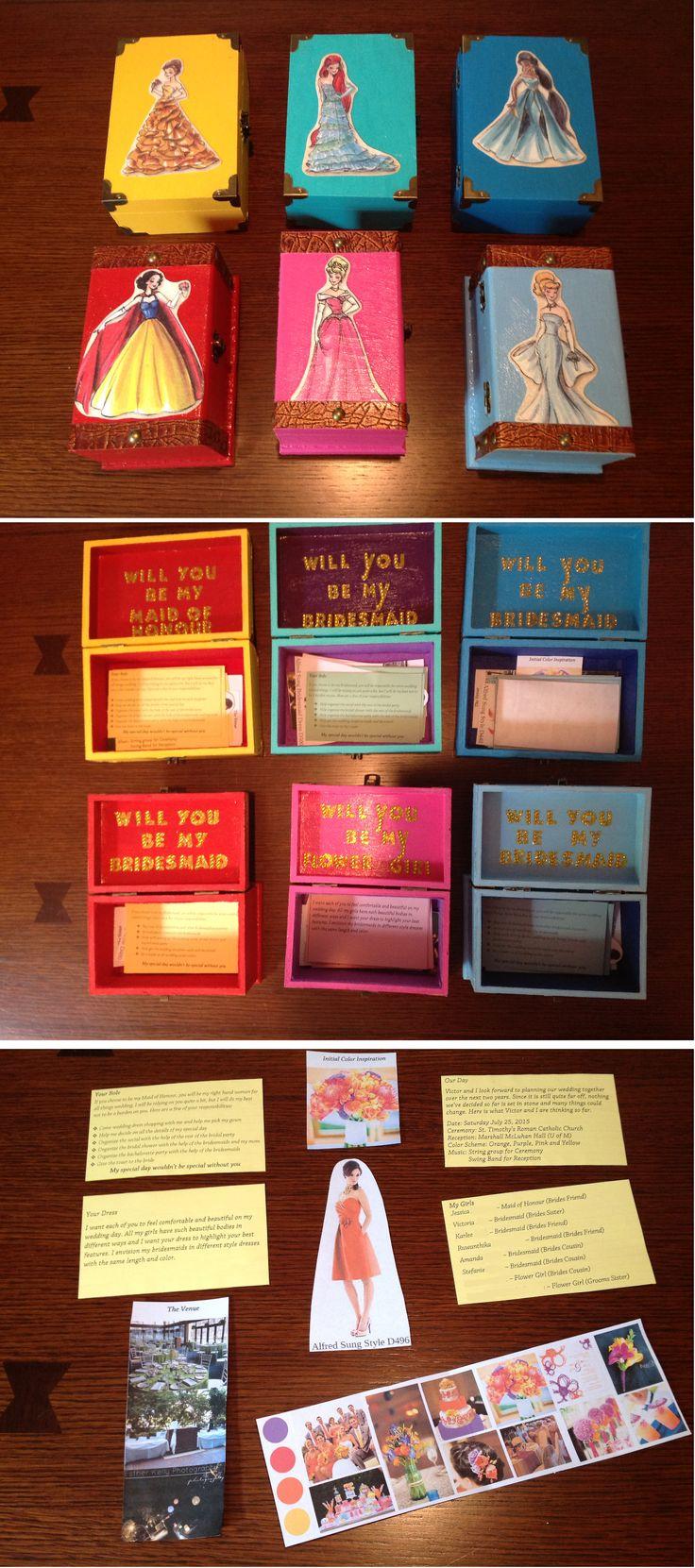 "Disney Princess Themed ""Will You Be My Bridesmaid?"" Box"