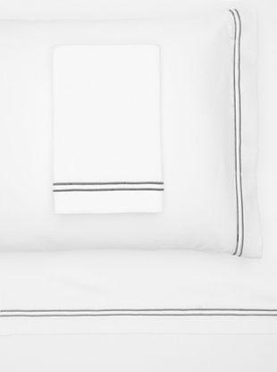 55% OFF Garnier-Thiebaut Nice Hotel Style Sheet Set (White/Grey)