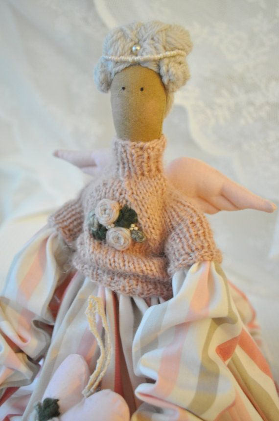 Beautiful romantic handmade Tilda style angel by dearblueberryshop, €40.00