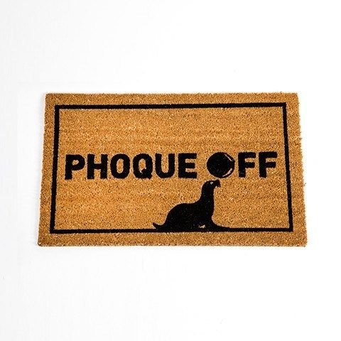 Greet welcome and not-so-welcome guests alike! #PhoqueOff #GiftIdeas #Canada #funny  http://giftideascanada.com/phoque-door-mat/