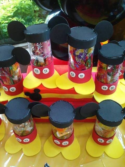 Fun favors at a Mickey Mouse birthday party!    See more party ideas at CatchMyParty.com!