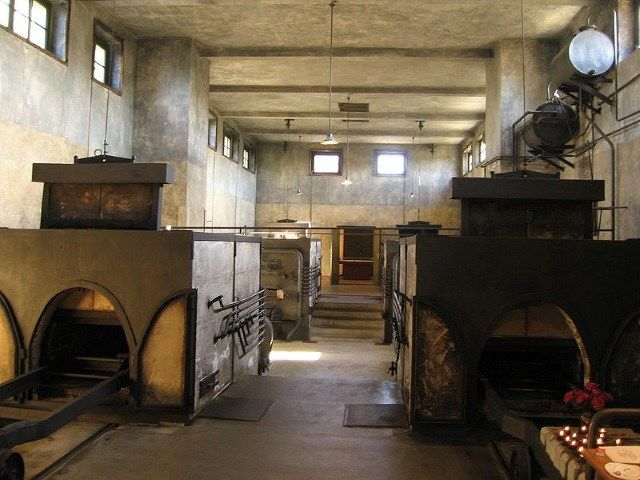 Crematório no campo de concentração de Theresienstadt, que ficava na cidade de Terezin, na atual República Tcheca.