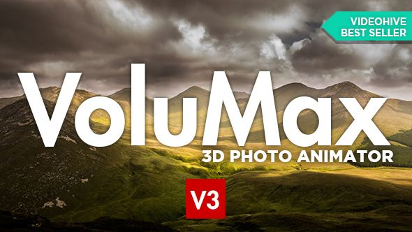 VoluMax - 3D Photo Animator  VoluMax is a photo animator tool for After Effects with professional results. The simplest solution on the market to turn your pictures into 3D animations. No clean Plate / No imprecise masks / No plugin / No complex documentation ONE PICTURE + ONE PAINTING, that's all you need!