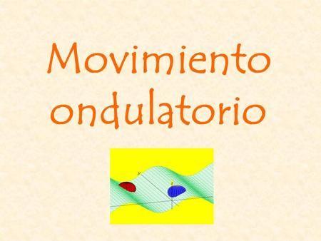 Movimiento ondulatorio Una onda es una perturbación que se propaga desde el punto en que se produjo, a través del espacio transportando energía y no.