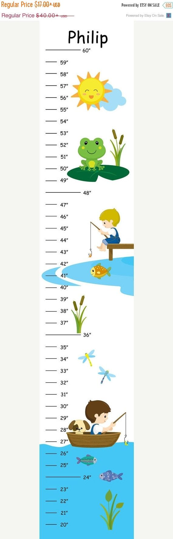 20 best medidores para nios images on pinterest for kids personalized gone fishing growth chart nvjuhfo Gallery
