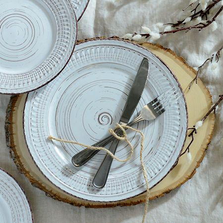 Cosenza Cream Dinner Plate | Kirklands