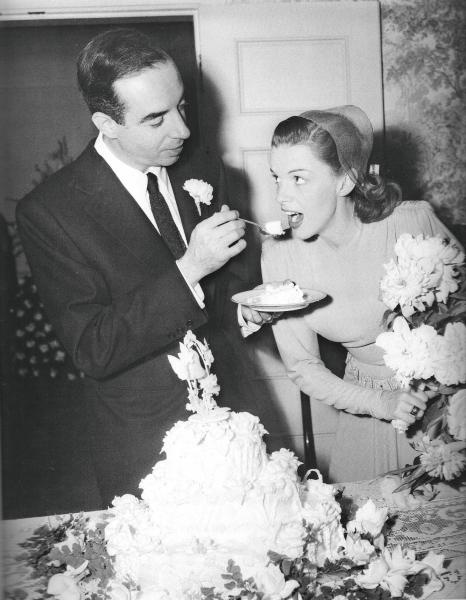 Judy Garland and Vincent Minnelli on their wedding day.