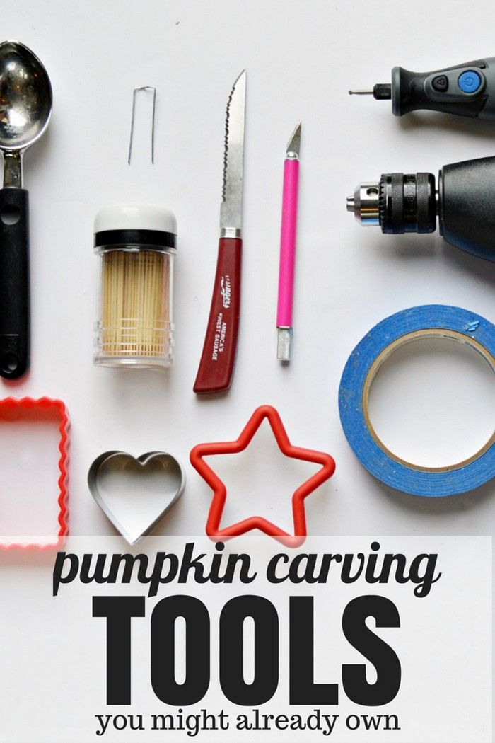 Pumpkin Carving Tools You Might Already Own - Mad in Crafts