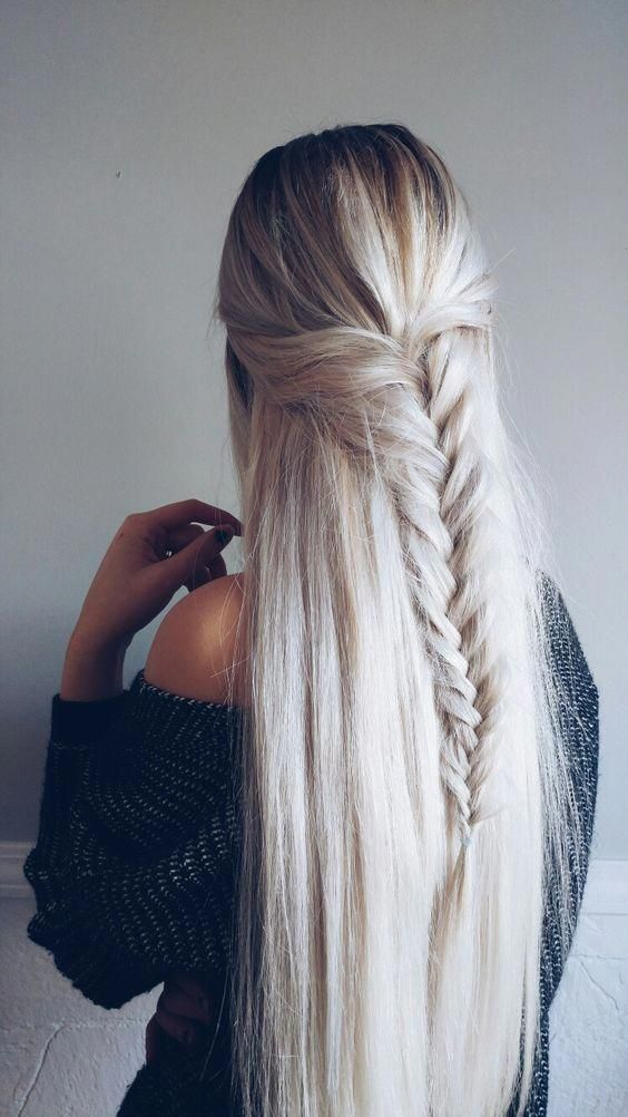 Wonderful 70+ Fishtail Hairstyles Half Up Ideas #braidhairstyles