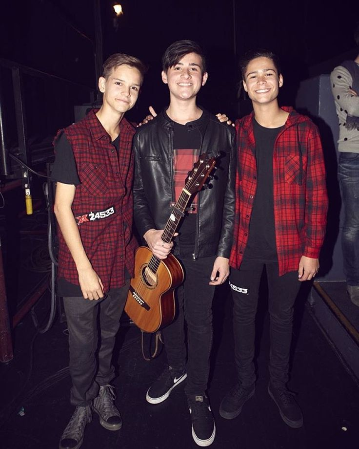 In STEREO from X Factor AU - Ethan (l), Chris (m), Jakob (r)