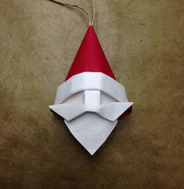 Santa Ornament | Beth's origami