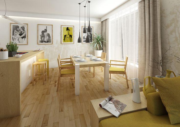 Inspiration pour un salon avec des touches de jaune