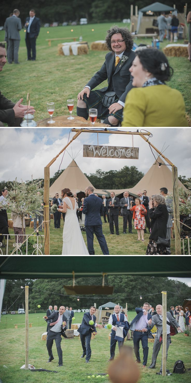 Old school garden games at the wedding?   A Garden Fete style english rustic wedding with O Photogrpahy | Rock My Wedding