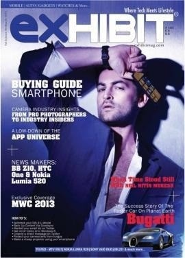 Neil Nitin Mukesh on The Cover of Exhibit Magazine - March 2013.