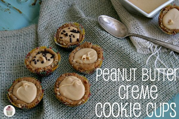 Peanut Butter Creme Cookie Cups: Cookie Cups, Cookies Cups, Homemade Minis, Minis Peanut, 3 Peanut Butter, Peanut Butter Cups, Hoosier Homemade, Butter Creme, Homemade Peanut Butter