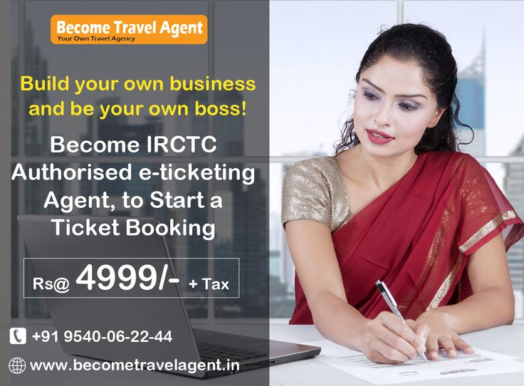 Build your own business and be your own boss! We are providing opportunity to become indian railway authorised e-ticketing agent, to start a ticket booking. kNOW MORE VISIT : http://www.becometravelagent.in/