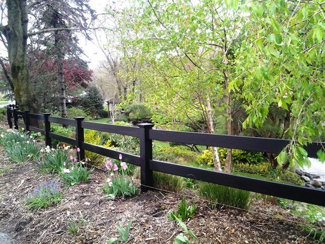 Rail vinyl post and fence pinterest