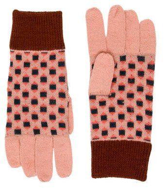 Caramel Baby & Child Girls' Patterned Wool Gloves