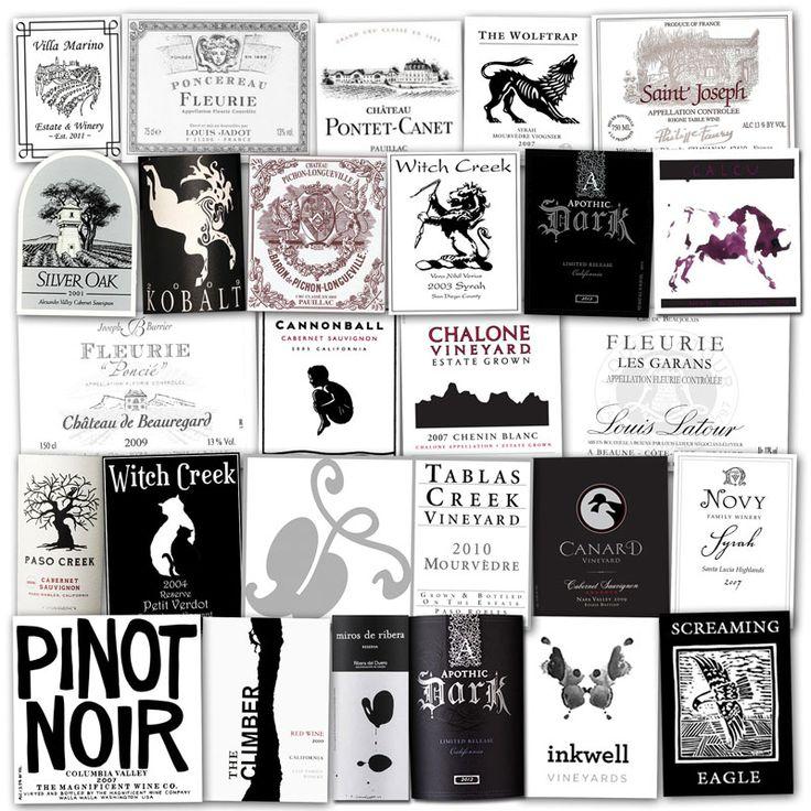 Wine Labels – Black & White