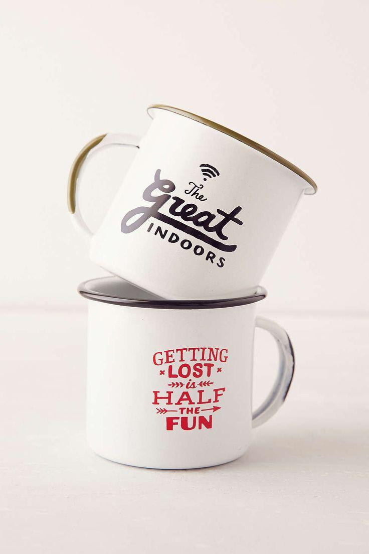 cute enamel mugs - a fun gift for your adventurous friend