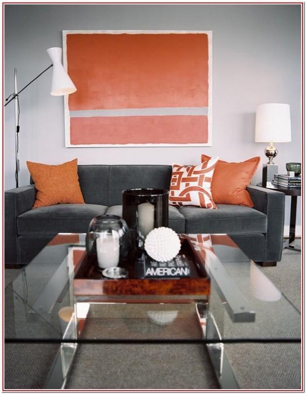 Orange And Grey Living Room Decor Orange And Grey Living Room Decor Living Room Decor Gray Living Room Orange