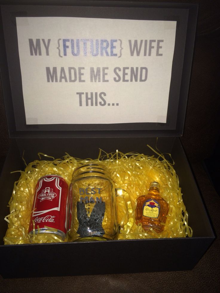 Will you be my best man? Crown and coke gift box.