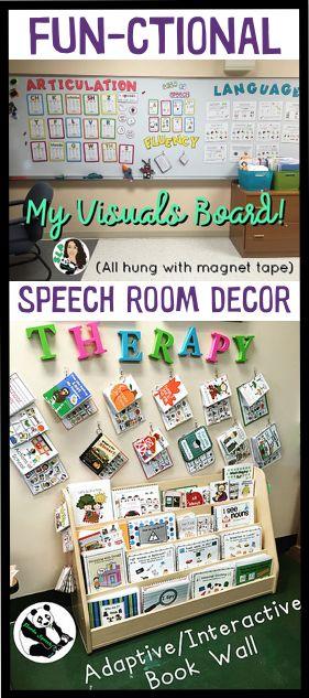 FUN-ctional speech room decor ideas!