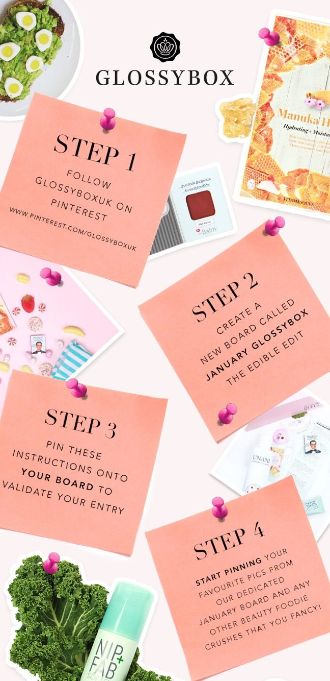 #WIN a delicious edit of treats in celebration of our January GLOSSYBOX. Just follow these steps #GlossyboxUK #Competition