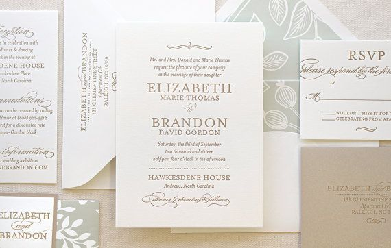 The Spearmint Blossom Suite Modern Letterpress by DinglewoodDesign