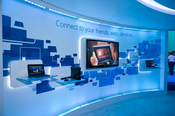 Microsoft at CES Exhibition design 10 25 Innovative 3D Exhibition Designs, Display Stands & Booth Collection