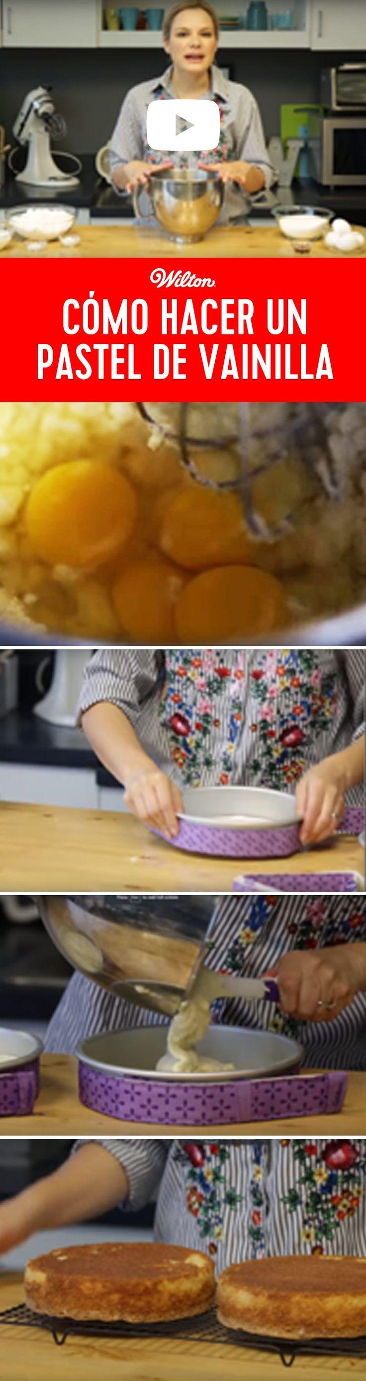 Cómo hacer un pastel de vainilla - Esta receta es la base de todos los pasteles, ¡te va a encantar!