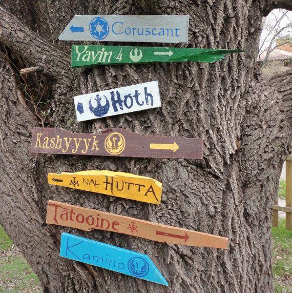 Pack de 7 madera señales direccionales elegir 7 por CurioObscurio