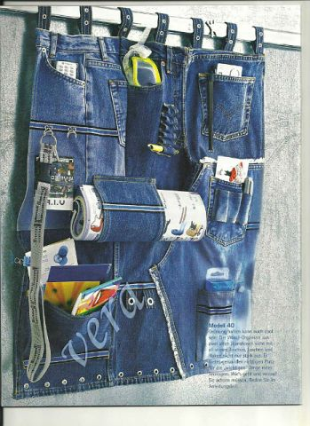 Great jeans tidy board - plenty of interesting pockets and holders!