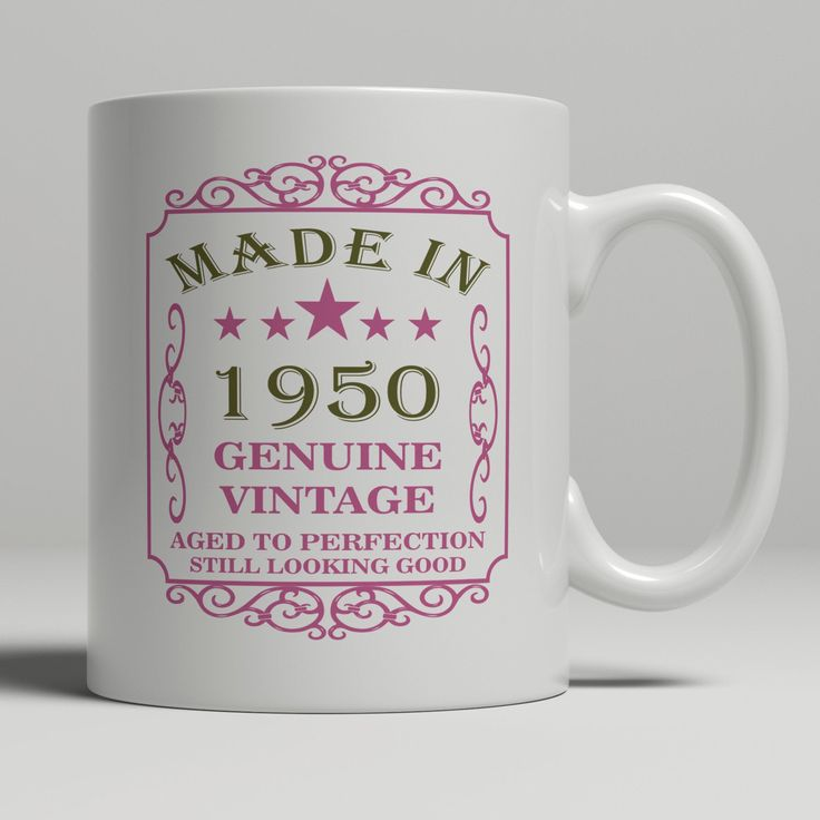 70th Birthday Gift For Women, Born In 1950 Gift Mug