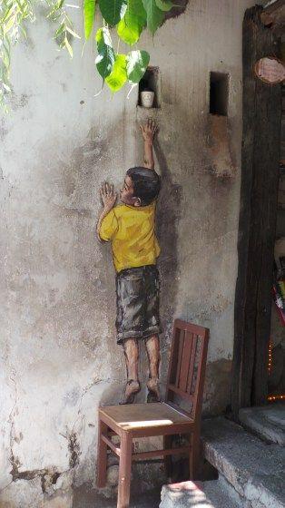 George Town  UNESCO site Street Art, Penang.  Malaysia.