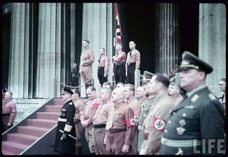 Third Reich in Color Adolf Hitler / Rudolf Hess LIFE Image