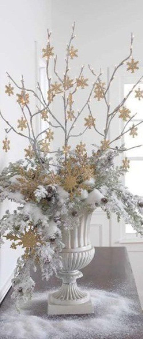 740 best christmas dreaming of a white christmas images White christmas centerpieces