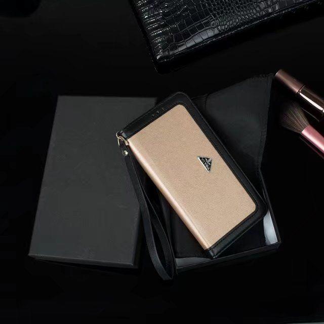 プラダ Prada配色iPhone8/7s/7Plus/6s/6Plusケース手帳型ブランド風アイフォン7/7plusカバー紙幣カード収納